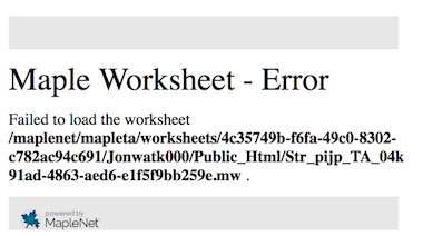 Maple Worksheet Error when loading a MathApp | Maple T.A. and ...